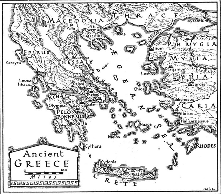 Map Ancient Greece